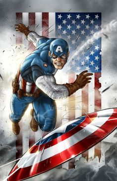 Another great Captain America Pic.    Captain America 2 by *VinRoc on deviantART
