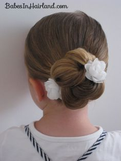 Loopy Bun Hairstyle (15)  flower girl and/or liliana