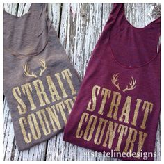 For all my King George Fans! Strait Country Tank by Stateline Designs!