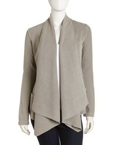 Open Shawl-Collar Jersey Jacket, Shadow by James Perse at Last Call by Neiman Marcus.