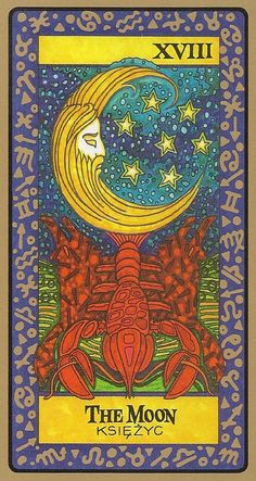 The Moon - Polish Tarot (Jasniak Color Tarot)
