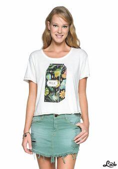 T-shirt Milk Floral