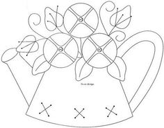 embroidery design~teapot