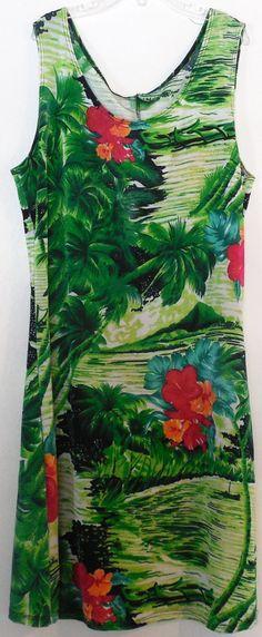 Hawaiian Style Bandage Dress-Knit Sleeveless Dress-Size Small by ShellyisVintage on Etsy