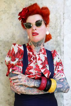 I just got to Sintra, Portugal to photograph Nazare Pinela and her husband Eduardo for my couple's project. She is a lovey as can be, but I asked if she wouldn't mind posing more fiercely for a few shots. If you have a chance visit their incredible shop in Sintra Bang Bang Tatoo.