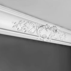 Visit our online shop for a beautiful range of coving & cornice. From the plainest coving to ornate french style cornice, we have styles to suit every home. Foam Crown Molding, Panel Moulding, Moldings, Molding Ceiling, Cornice Moulding, Pvc Ceiling Tiles, Ceiling Decor, Ceiling Lamps, Home Design
