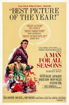 IMP Awards / 1966 Movie Poster Gallery / A Man for All Seasons (#2 of ...
