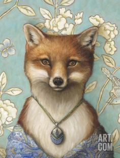 Fox by Jayne Siroshton Art And Illustration, Fuchs Illustration, Illustrations, Fox Images, Fox Spirit, Vintage Fox, Fox Art, Zootopia, Whimsical Art