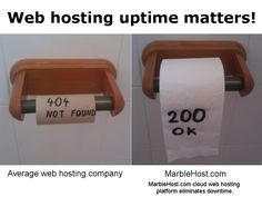 Web hosting uptime matters. Switch to MarbleHost.com for better uptime.