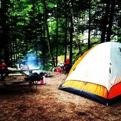 The way #camping should be! #maine #Freeportmaine #thewoods REGRAM @pigeonromance