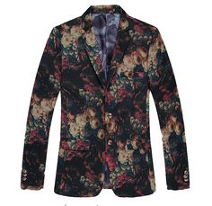 Surreal Art Floral Multicolor Stylish Blazer