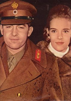 King & Queen 14.12.1967 King Constantine II of the Hellenes and his wife, Queen Anne Marie, arriving in Rome after the Kings attempt to restore democracy in Greece failed. The colonels who had seized power in April 1967 were finally toppled in 1974, but the Kings efforts were not rewarded. he was forced to stay in exile. The Queen, who was pregnant in December, lost her child soon after the arrival in Rome
