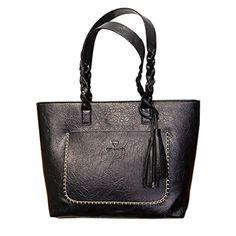 8d402a7afd Voberry Fashion Retro Vintage Style Women PU Leather Tote Bag Satchel Handbag  With Shoulder Strap Crossbody