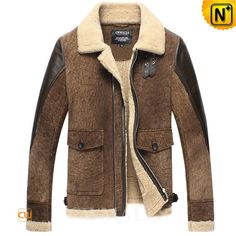 Vintage Sheepskin Shearling Jacket CW858316 Vintage sheepskin jacket for men crafted from distressed natural sheepskin with fur shearling material protect you from cold and winter, quality suede shearling jacket featuring with buckle faster at shearling collar, adjustable tabs at hem. www.cwmalls.com PayPal Available (Price: $1457.89) Email:sales@cwmalls.com