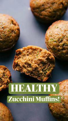 Zucchini Bread Muffins, Greek Yogurt Muffins, Healthy Breakfast Muffins, Baby Breakfast, Breakfast Ideas, Breakfast Recipes, Healthy Zucchini, Blueberry Oatmeal, Healthy Desserts