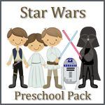 star wars preschool pack... i know i'll have to print one of these off for the non-preschool, older brother or he'll be super jealous and we don't want that, eh