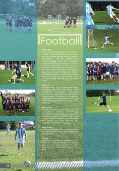 yearbook page - football