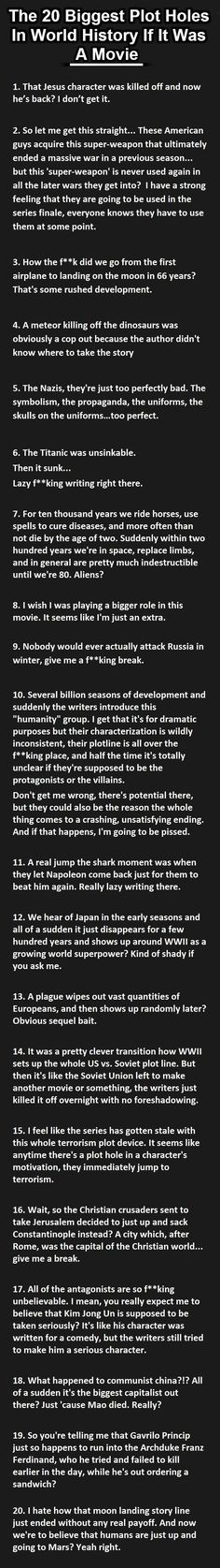 20 Biggest Plot Holes In World History. The Titanic One Is So True. My inner history nerd and cinema addict is completely satisfied! My inner history nerd and cinema addict is completely satisfied! History Jokes, History Facts, Funny History, History Major, World History, Die Titanic, Plot Holes, What Do You Mean, Thats The Way