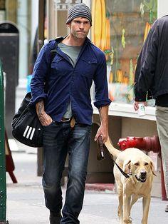 SEANN WILLIAM SCOTT  Scott and his dog team up for a Saturday trek around New York.