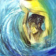 Wasser ist Leben, Element Wasser, Malerei von Hans-Jakob Bopp - Kreavitalis