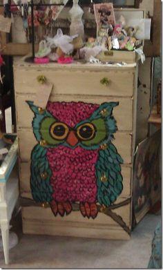 Owl Dresser Pinned by www.myowlbarn.com