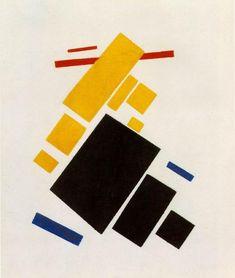 Tableaux sur toile, reproduction de Malevich, Aéroplane volant