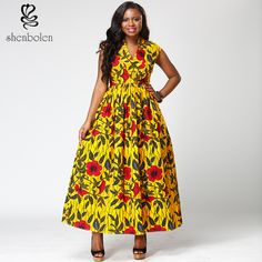 2017 African fashion women sleeveless collar dress Ankara batik fabric print dress with African Ankara women apparel fabrics African Print Dresses, African Dresses For Women, African Fashion Dresses, African Women, African Clothes, Kitenge, Nigerian Dress Styles, Nigerian Outfits, African Inspired Clothing