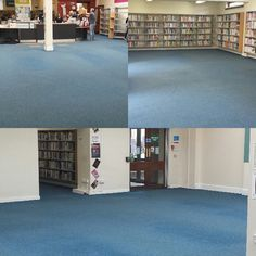 How to carpet a First step: Move out all the books and shelves. Big well done to the Library staff for their hard work preparing the library for the carpet fitters. Carpet Fitters, Moving Out, First Step, Hard Work, Shelves, Big, Books, Home Decor, Shelving