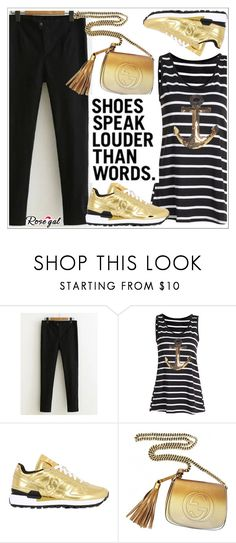 """""""Rosegal"""" by teoecar ❤ liked on Polyvore featuring Saucony and Gucci"""