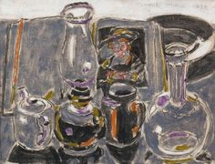 David Milne, Early Morning - oil on canvas Canadian Painters, Canadian Artists, Painting Still Life, Still Life Art, David Milne, Classical Art, Autumn Art, Artist At Work, Painting & Drawing