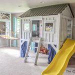 Cabin Playroom with Rope Bridge