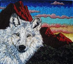 Wolf by Kate Boyan, Adventures in Beadwork http://livingbeadwork.blogspot.com/