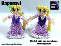 Rainbow Loom Rapunzel/Tangled Princess Action Figure/Charm - 2D Standing Doll