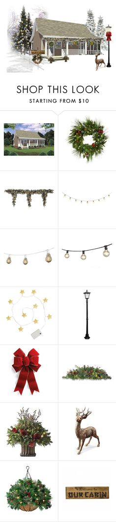"""""""Outdoor Christmas Decor"""" by shistyle ❤ liked on Polyvore featuring interior, interiors, interior design, home, home decor, interior decorating, Improvements, Home Decorators Collection, Bulbrite and Paradise Garden Lighting"""