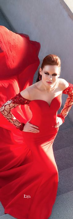 Message from ME - MY DRESS FROM MISS SUPRANATIONAL 2014!!! <3   Red satin gown with lots of movement for Tarik Ediz