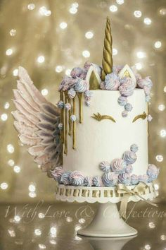 Beautiful Unicorn Angel cake ! FANCY❤️