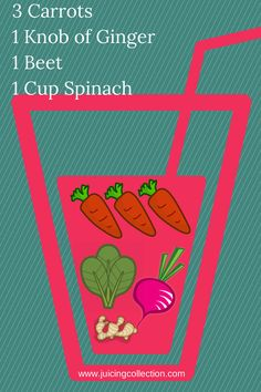 Carrot Beet Spinach juice for energy