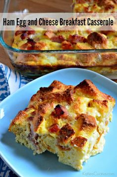 Entertaining for a brunch? Give my easy recipe for Ham Egg and Cheese Breakfast Casserole a try! Ham Cooking Time, Cooking Recipes, Brunch Recipes, Breakfast Recipes, Sweets Recipes, Yummy Recipes, What's For Breakfast, Savory Breakfast, Breakfast Casserole
