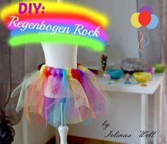 DIY: Anleitung für einen Regenbogen Tüllrock - kinderleicht