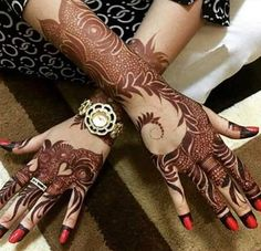 Are you looking for the new khaleeji designs of mehendi? then do check out the Latest Khaleeji Mehendi Designs in Trend year which are in fashion Mehendi, Dulhan Mehndi Designs, Mehandi Designs, Khafif Mehndi Design, Mehndi Design Photos, Beautiful Mehndi Design, Henna Mehndi, Mehndi Images, Henna Art