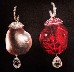 #JewelsbyJar #ruby #pearl #earring #simple #pleasure  #Jar #jewels #collection #collector of #highjewelry