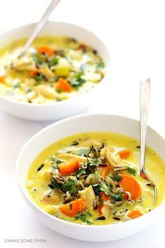 Curried Chicken and Wild Rice Soup (via Bloglovin.com )