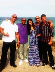 Fast Five cast (Paul Walker, Vin Diesel, Jordana Brewster, Ludacris & the Rock: Dwayne Johnson) with Natalie Morales for NBC 'The Today Show' Catumbi, Rio - 13 April 2011