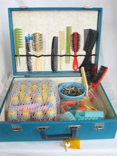 Vintage 'Fashion School of Beauty' Portable Hair Salon 1960's Student Kit Beauty Shop Decor Hard Case in excellent vintage condition. by PinkyLaRoux on Etsy