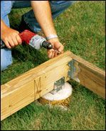 How to Build a Ground-Level DeckA free-standing, ground level deck is a clever way to extend your living space or create a detached entertaining space. Backyard Projects, Backyard Patio, Outdoor Projects, Outdoor Patios, Wood Patio, Outdoor Rooms, Outdoor Living, Deck Building Plans, Laying Decking