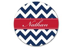 Personalized/ Monogram Chevron Melamine Dinner Plate- Choose your Colors on Etsy, $21.50