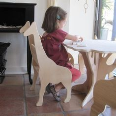 Giraffe Chair from The Childs Menagerie Furniture Collection by Palomas Nest