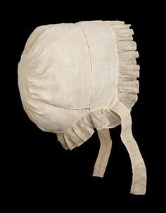 Woman's night cap American, first quarter of the 19th century PLACE OF USE Lexington, Massachusetts, United States PLACE OF MANUFACTURE Massachusetts, United States DIMENSIONS 20 x 12 x 21 cm (7 7/8 x 4 3/4 x 8 1/4 in.) MEDIUM OR TECHNIQUE Plain weave linen, lighter-weight plain weave linen ruffle