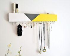 Modern Jewelry Organizer Wall Wood Jewelry Holder Necklace