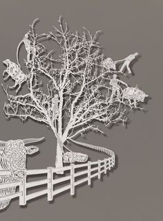 [PAPER ART BY BOVEY LEE] not laser but X-Acto knife cut  - unbelievable